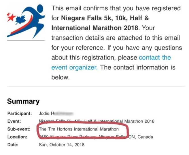 marathon confirm